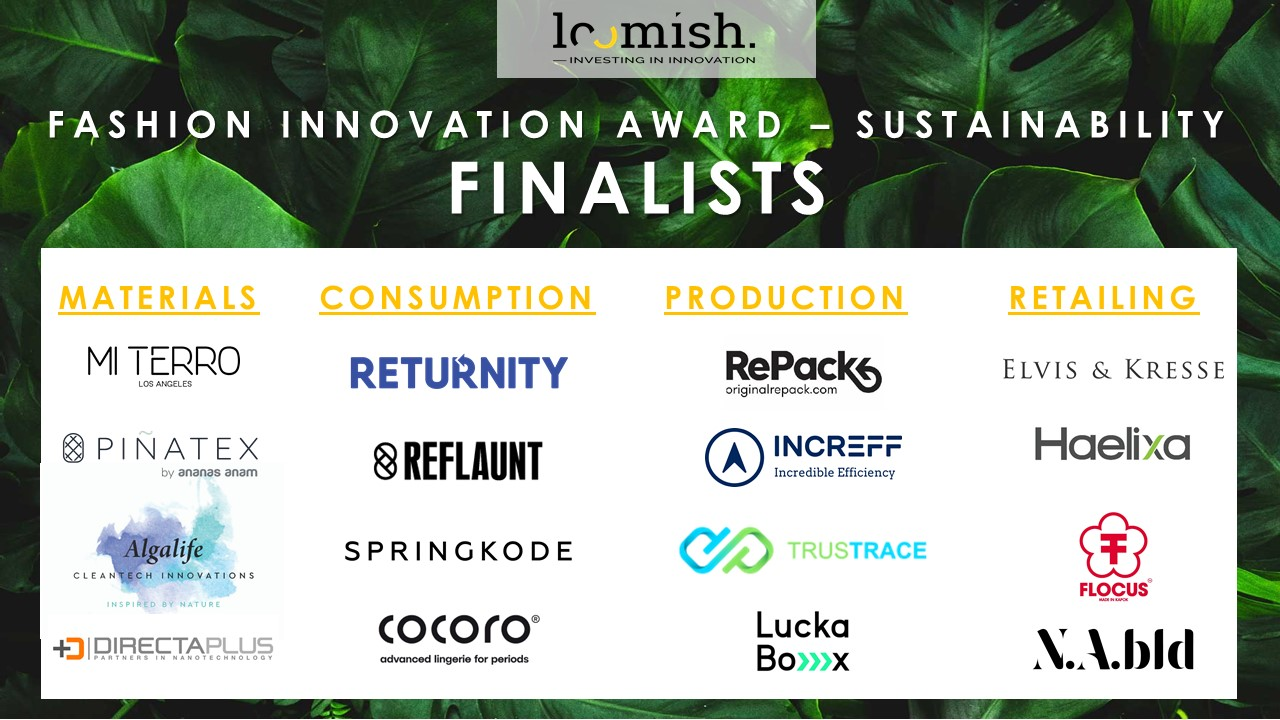 A strong international line-up of finalists announced for the Fashion Innovation Award, sustainability edition